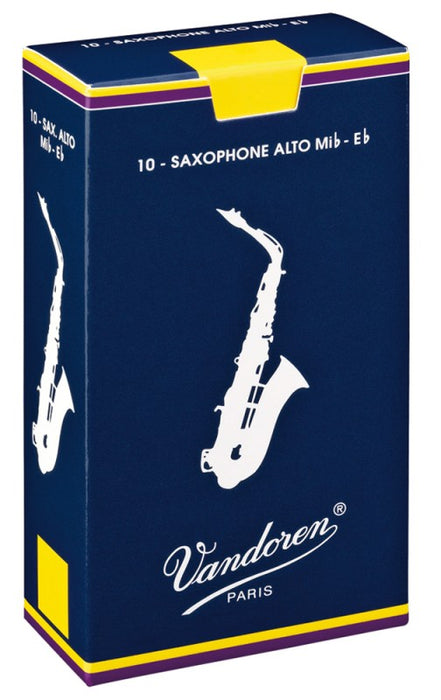 Vandoren Reeds Eb Alto Sax Traditional (10 BOX)