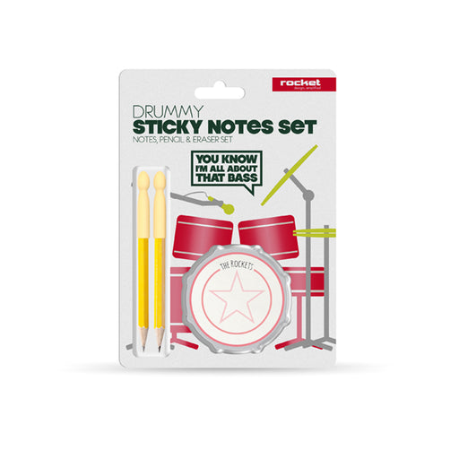 School Of Rock Drummy Sticky Notes Set