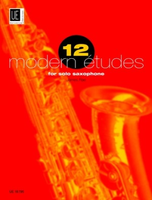12 modern etudes for solo saxophone, James Rae