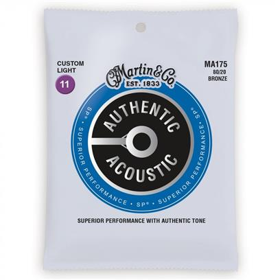 Martin Acoustic Guitar Strings, Custom Light 11-52