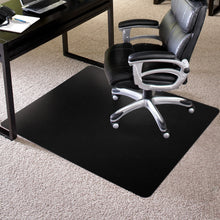 "Economy (Black): 48 x 60 Single Lip (10"" x 24"" Lip) .130"" Black Vinyl Chairmat"