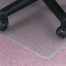 "Economy Custom: 60 x 96 Extension Left .130"" Clear Vinyl Chairmat"