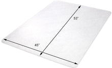"Executive: 45 x 53 Rectangle .250"" Clear Vinyl Chairmat"
