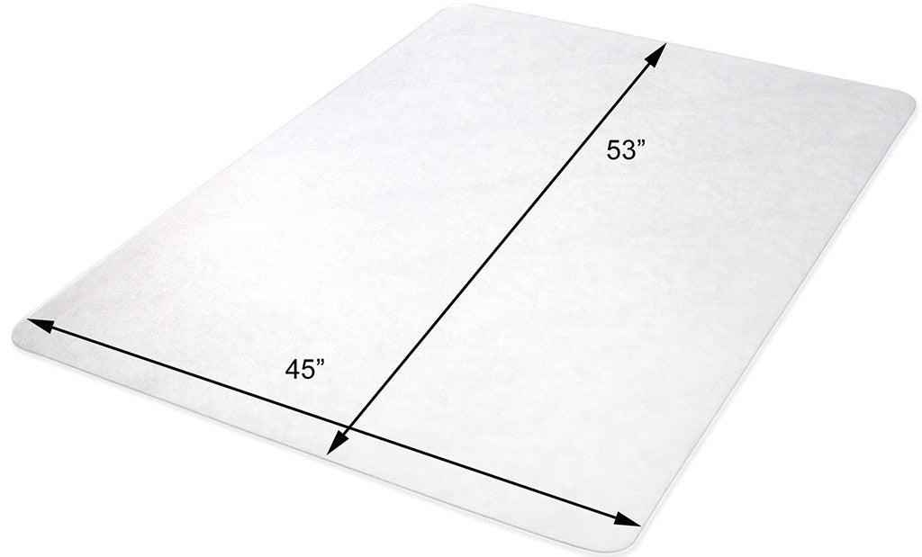 hard surface 45 x 53 rectangle 100 non studded clear vinyl