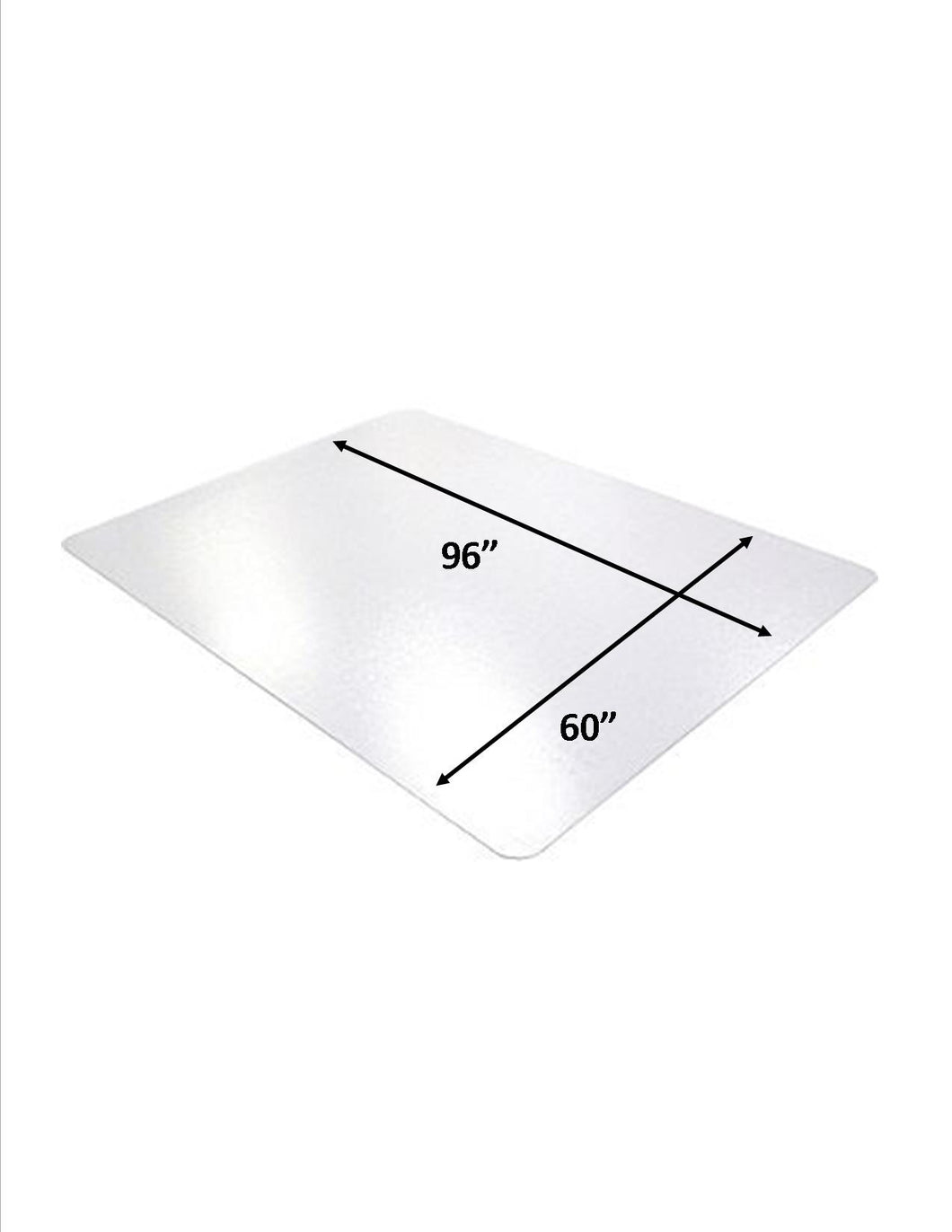 hard surface 60 x 96 rectangle 100 non studded clear vinyl