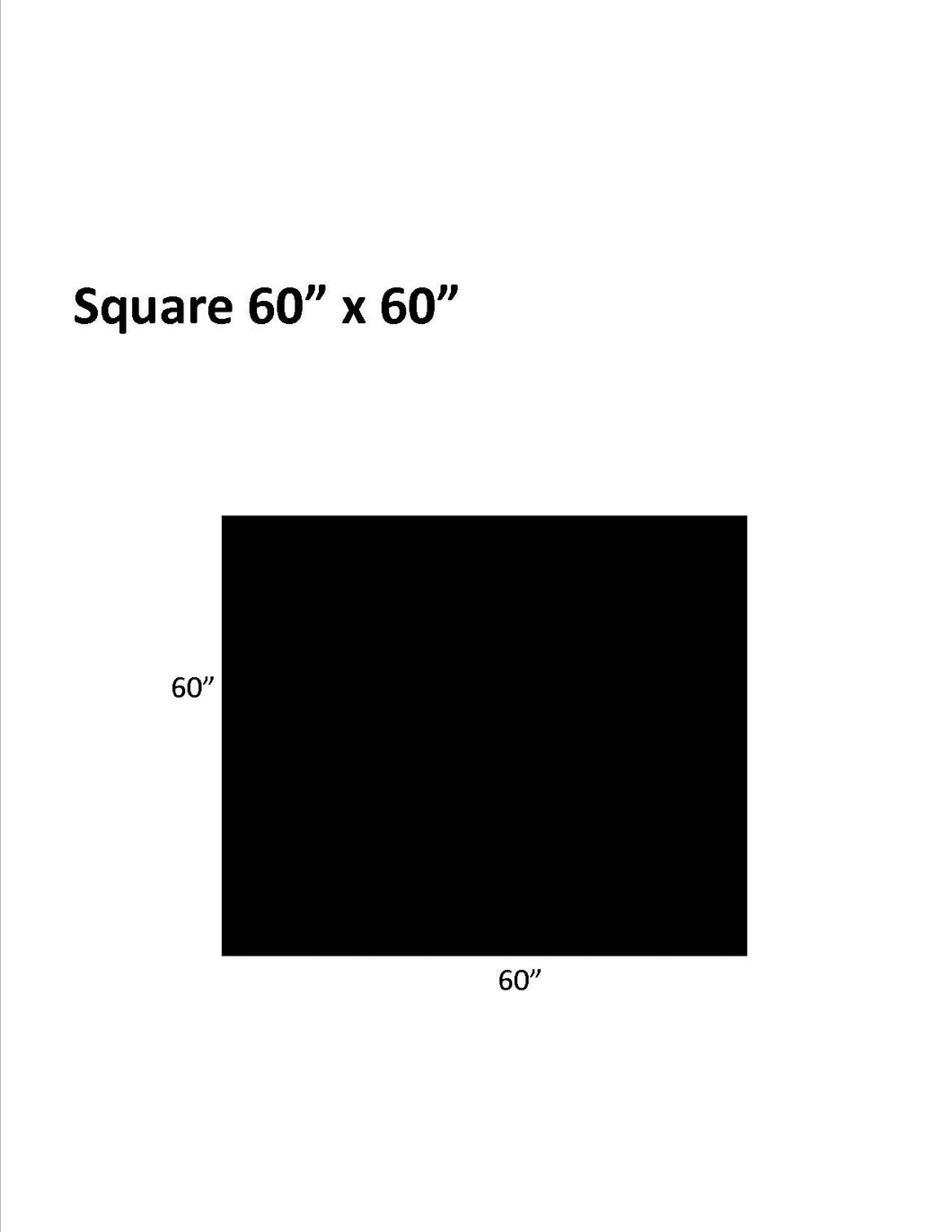 Hard Surfaces (Black): 60 x 60 Square .110