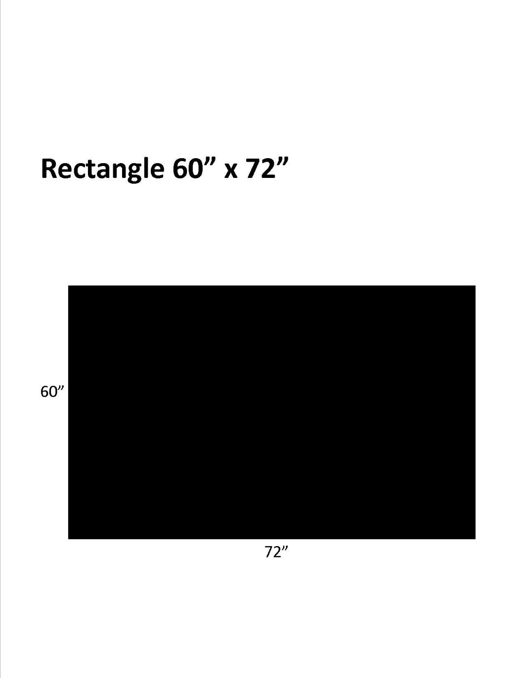 Hard Surfaces (Black): 60 x 72 Rectangle .110