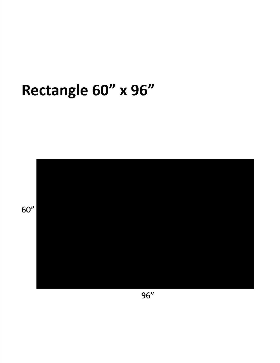 Economy (Black): 60 x 96 Rectangle .130