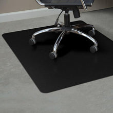 "Hard Surfaces (Black): 60 x 60 Square .110"" Black Vinyl Chairmat"