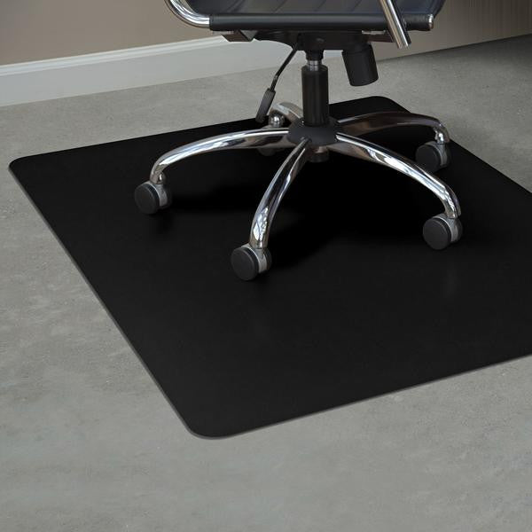... Hard Surfaces (Black) 36 x 48 Rectangle .110  Black Vinyl Chairmat & Hard Surfaces (Black): 36 x 48 Rectangle .110