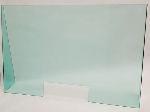 Green Acrylic Desk Shield