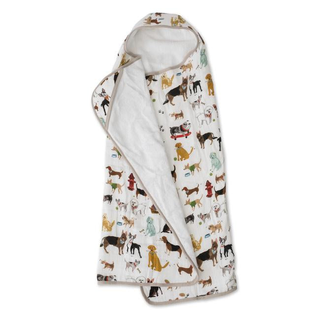 Big Kid Cotton Hooded Towel - Woof