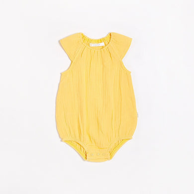 Organic Cotton Bubble Romper - Yellow