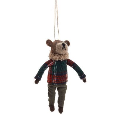 Wool Ornament - Bear with Sweater