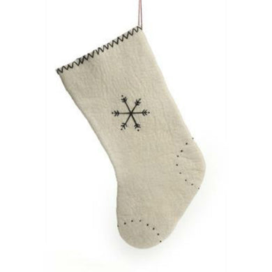 Wool Stocking - Snowflakes