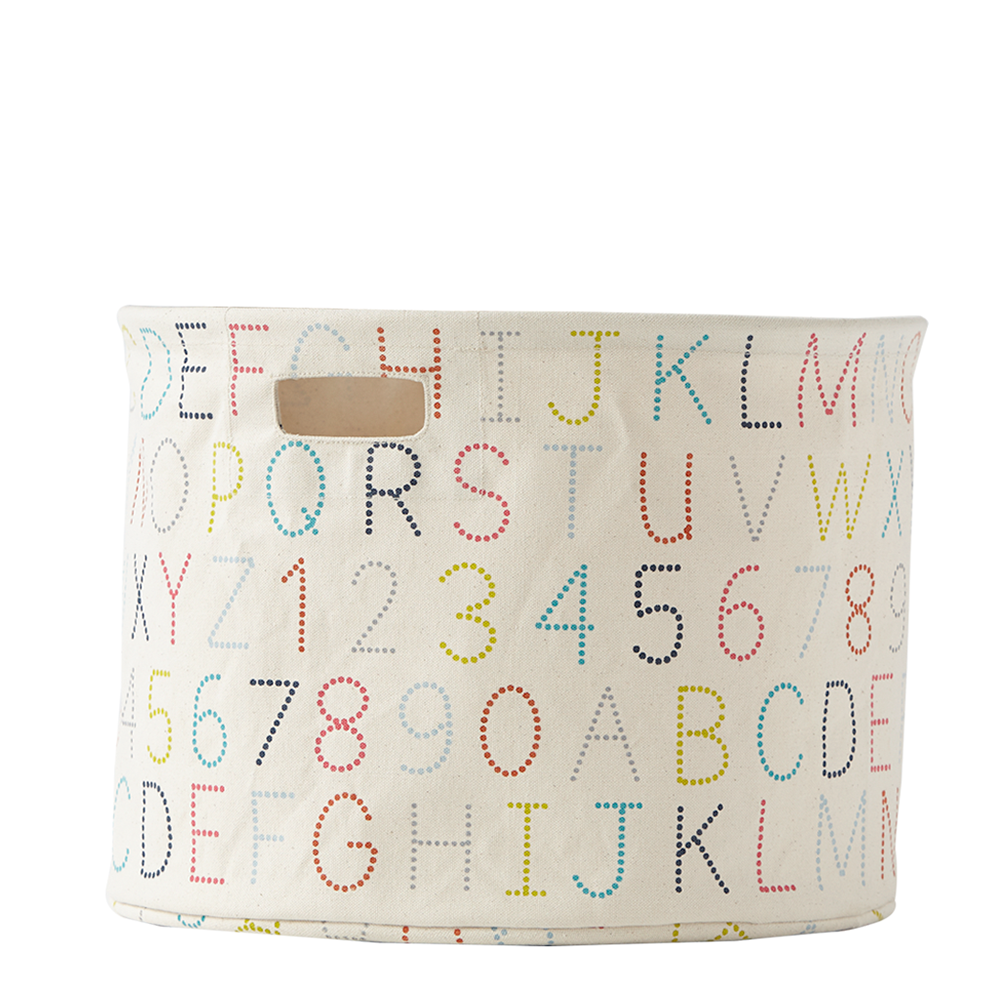 Canvas Large Drum - Alphabet