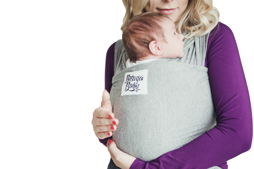 db8d916e3ee ... Bamboo Baby Wrap Carrier - The McKenzie (Heathered Charcoal Grey)