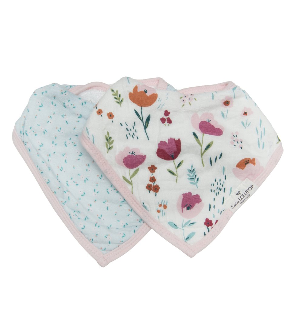 Bandana Bib Set - Rosey Bloom