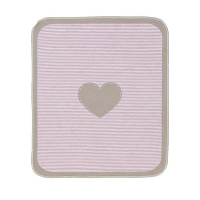 Cotton Blanket - Heart (Pink)