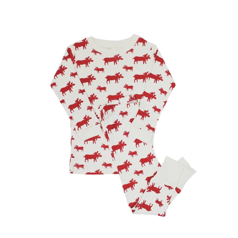 Organic Toddler Pajama Set - Red Moose