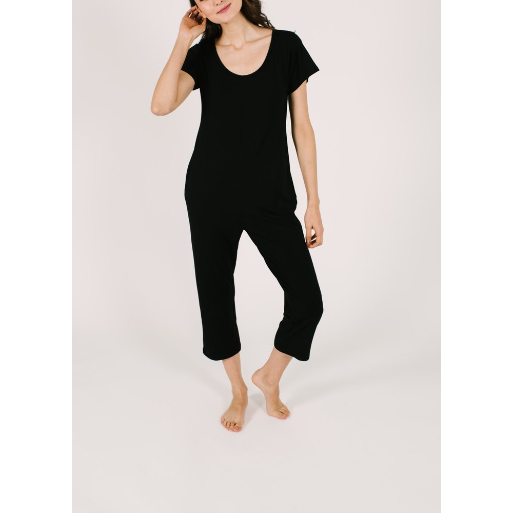 Thursday Romper - Midnight Black