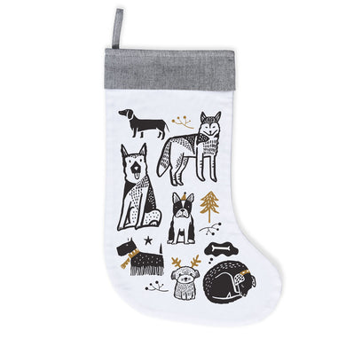 Organic Cotton Canvas Stocking - Doggy Love
