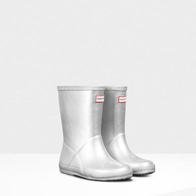 Original Kids First Classic Rainboot - Metal Silver