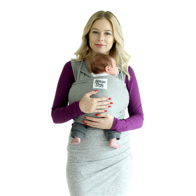 Bamboo Baby Wrap Carrier - The McKenzie (Heathered Charcoal Grey)