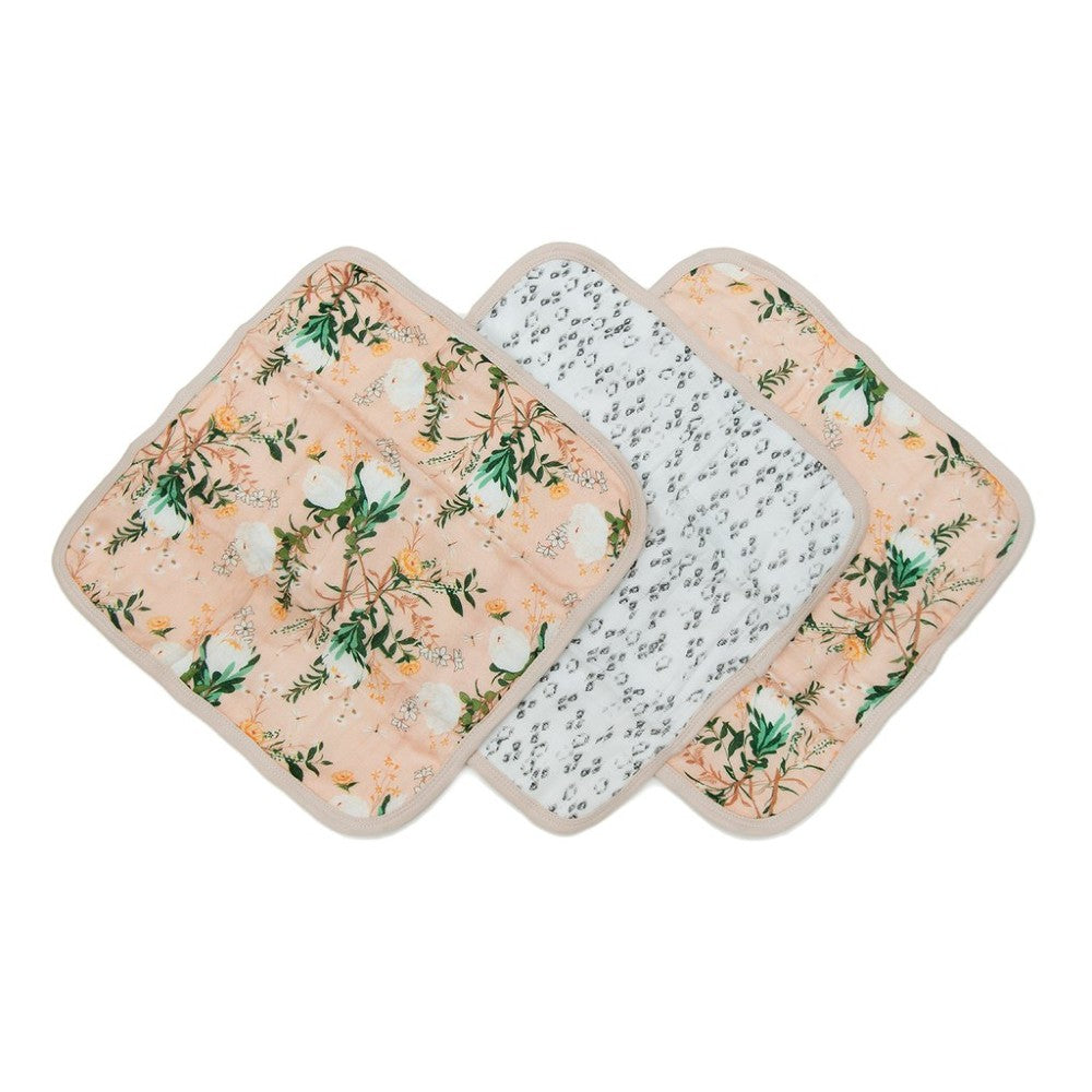 Muslin Washcloth Set (set of 3) - Blushing Protea