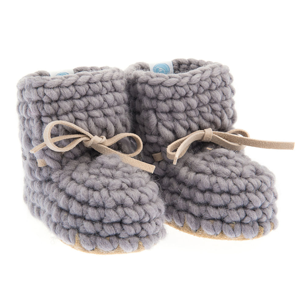 Knit Moccasins - Grey