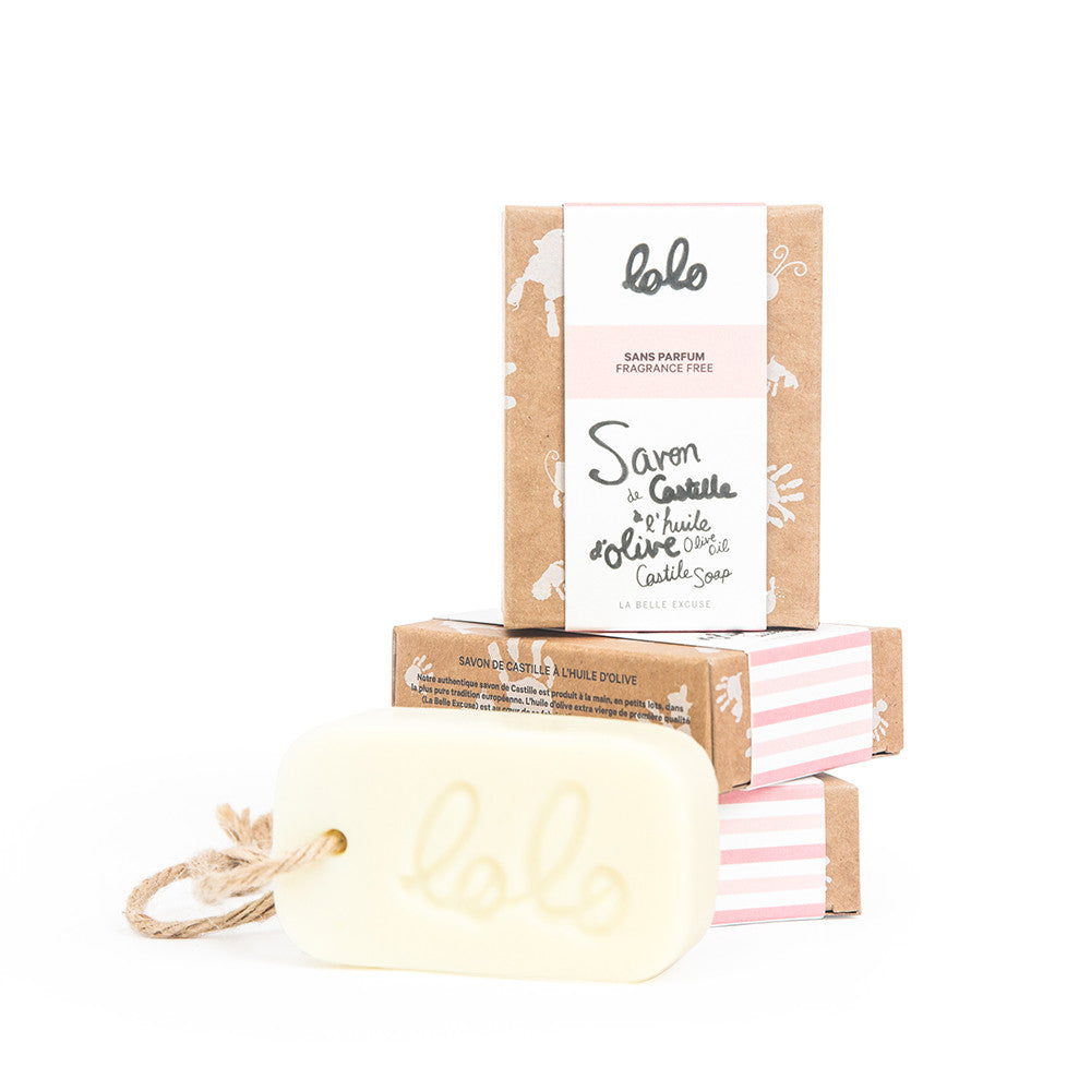 Lolo et Moi Castille Bar Soap, Fragrance Free