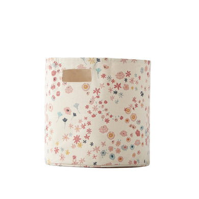 Canvas Bin - Pink Meadow