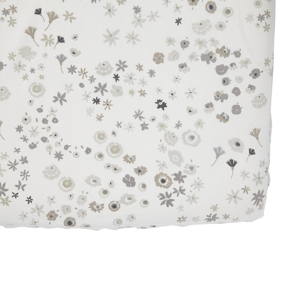 Fitted Crib Sheet - Monochrome Meadow