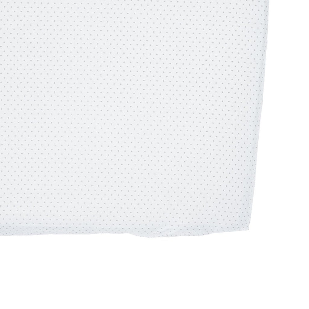 Fitted Crib Sheet - Grey Pin Dot
