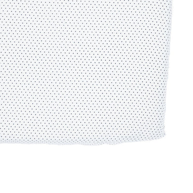 Fitted Crib Sheet - Navy Pin Dot