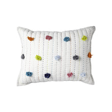 Decorative Pillow - Multicolour Pom Pom 12x16""