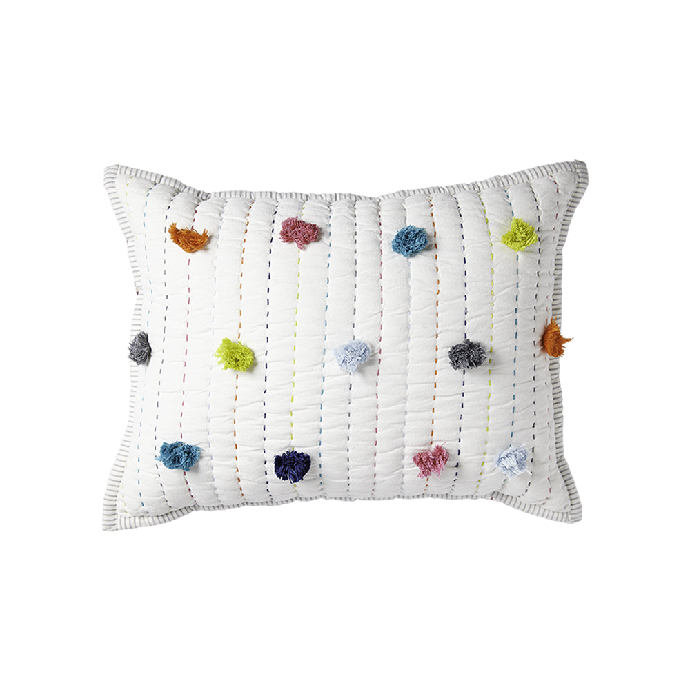 Decorative Pillow - Multicolour Pom Pom 12x16