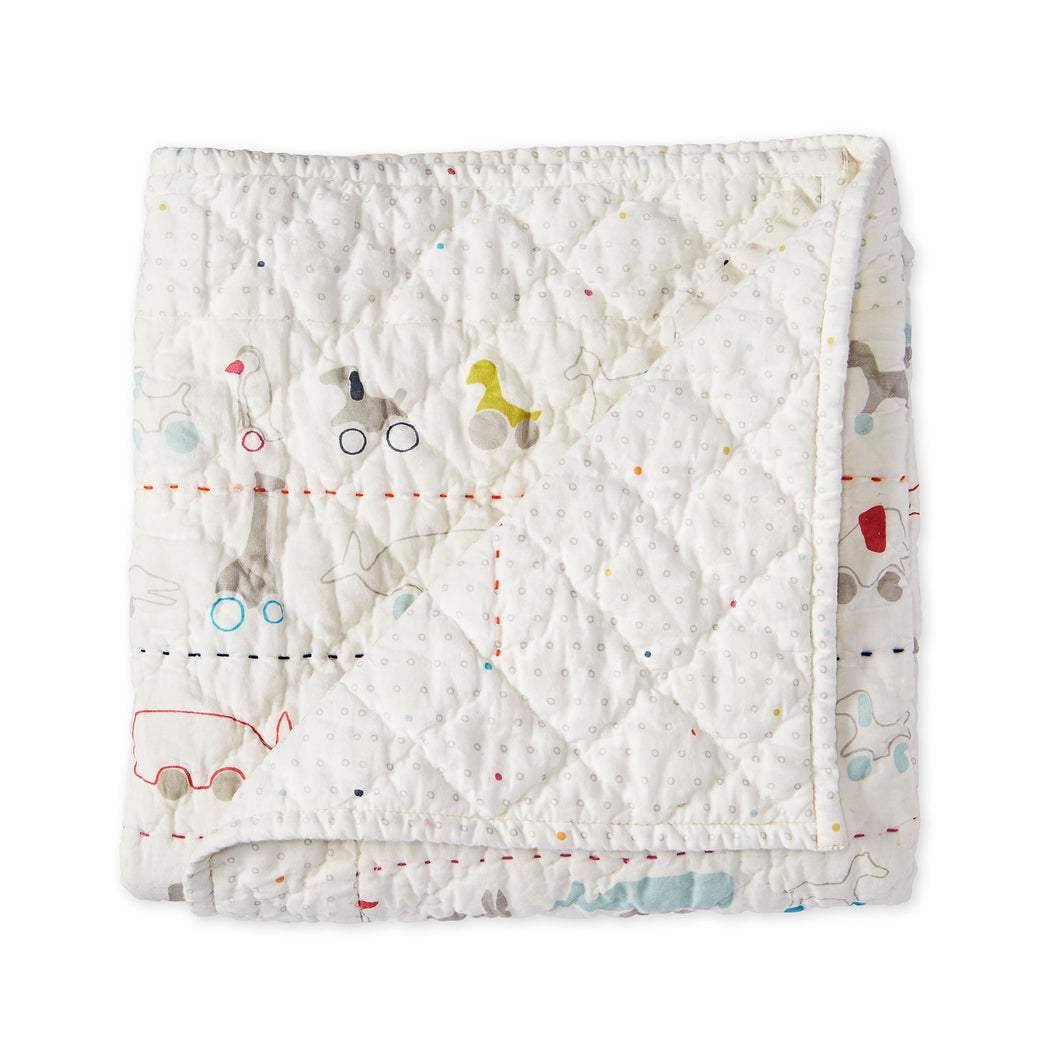 Quilted Blanket - Pull Toys