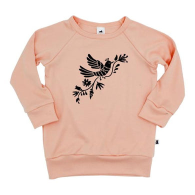 Otomi Floral Pullover - Peach