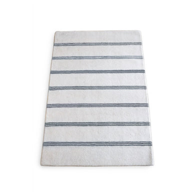 Wool Grey Stripe Rug