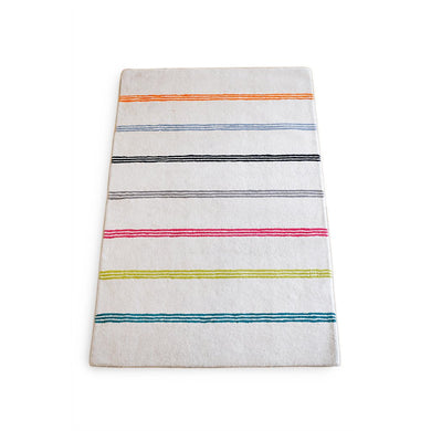 Wool Rainbow Stripe Rug