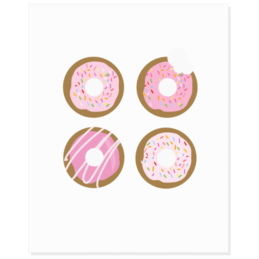 Colourful Art Print - Donuts
