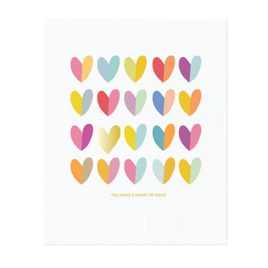 Colourful Art Print - Heart of Gold