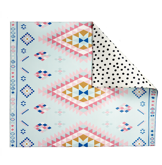 Reversible Play Mat - Moroccan Rug + Dots