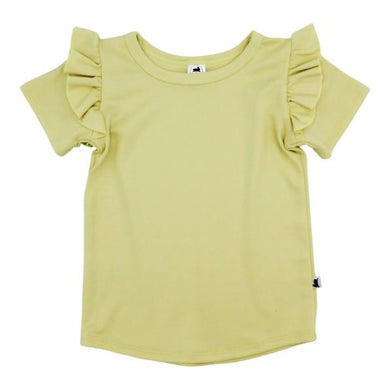 Ruffle Sleeve T-Shirt - Pineapple