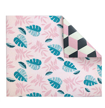 Reversible Play Mat - Pink Leaf + Geo
