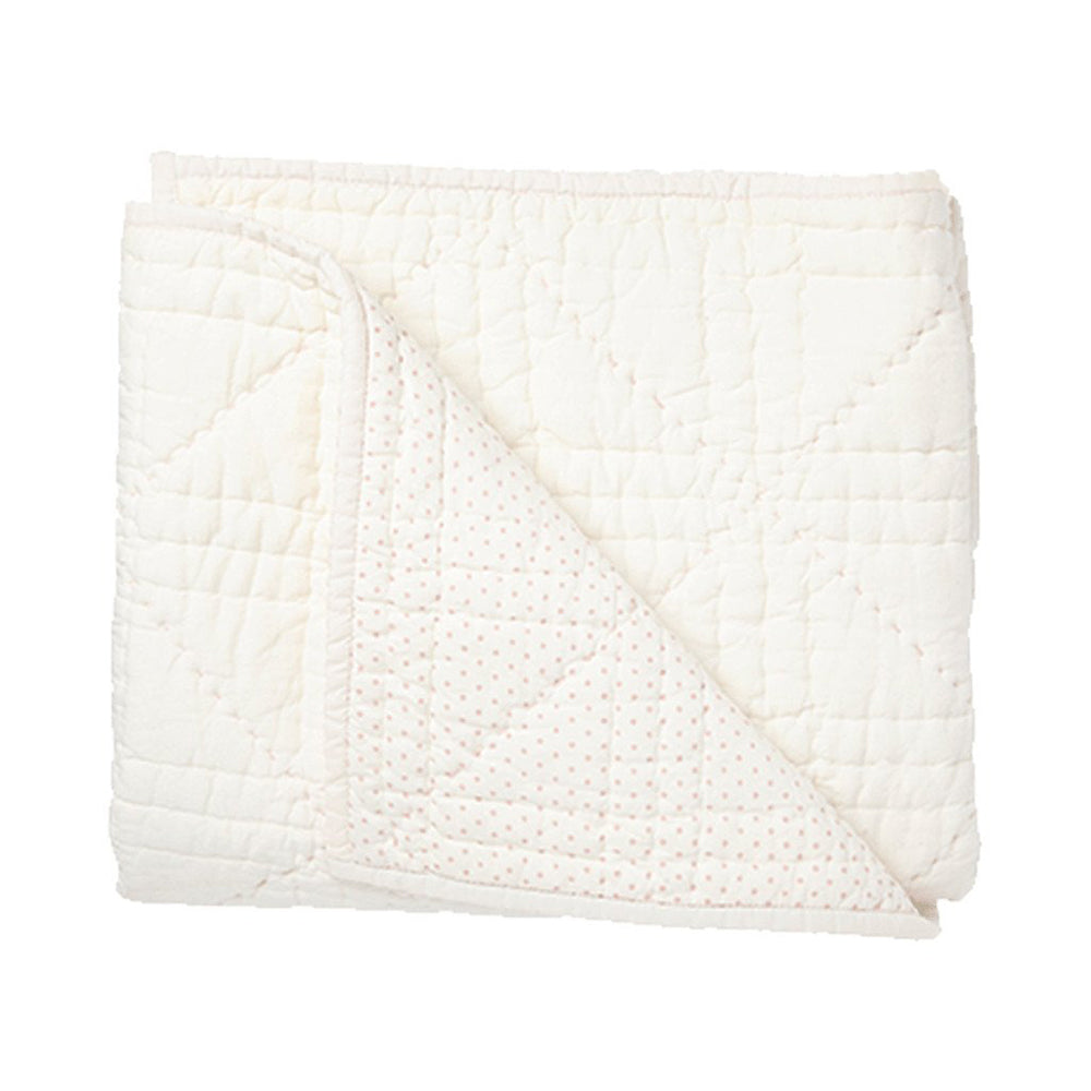 Quilted Stork Blanket - Pink
