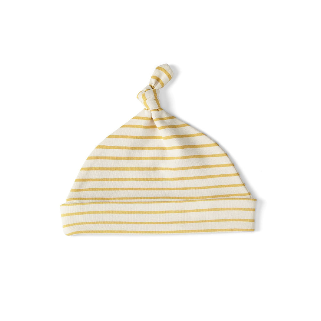 Stripes Away Knot Hat - Marigold