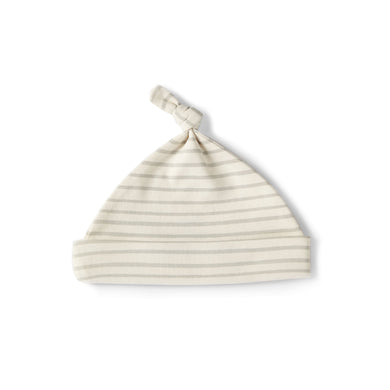 Stripes Away Knot Hat - Pebble