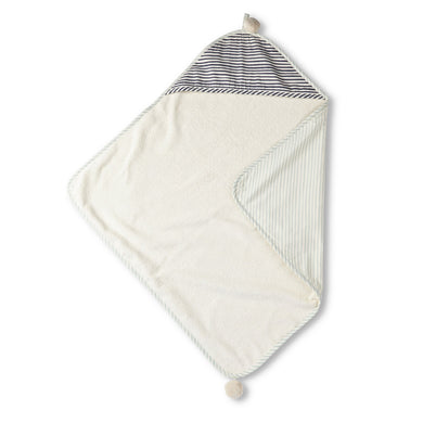 Hooded Towel - Stripes Away (Sea)